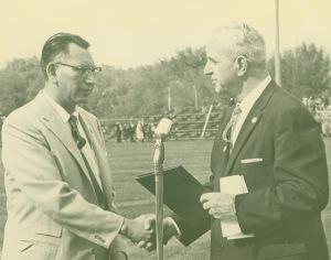 Artist Laureate of South Dakota Oscar Howe and Governor Ralph Herseth, c. 1960