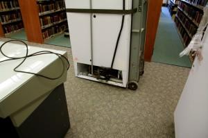 Old hazardous materials freezer.
