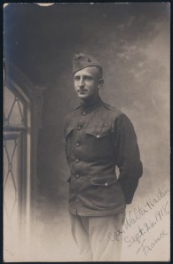 Corporal Walter Kasten, 1918, France. Image from Digital Library of South Dakota.