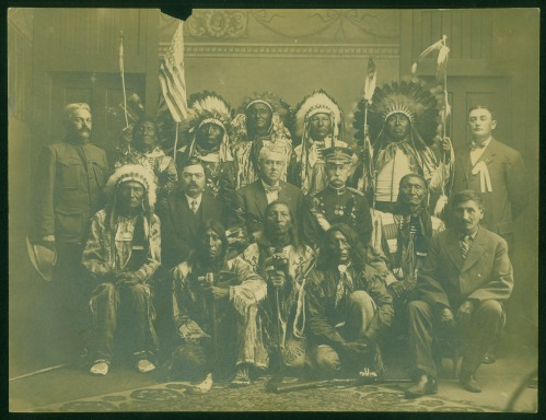 """Indian Council - 1908 at Pierre, SD"""