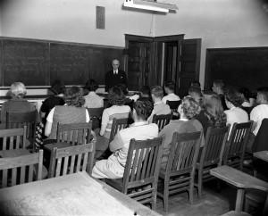 Lewis Akeley teaching Philosophy