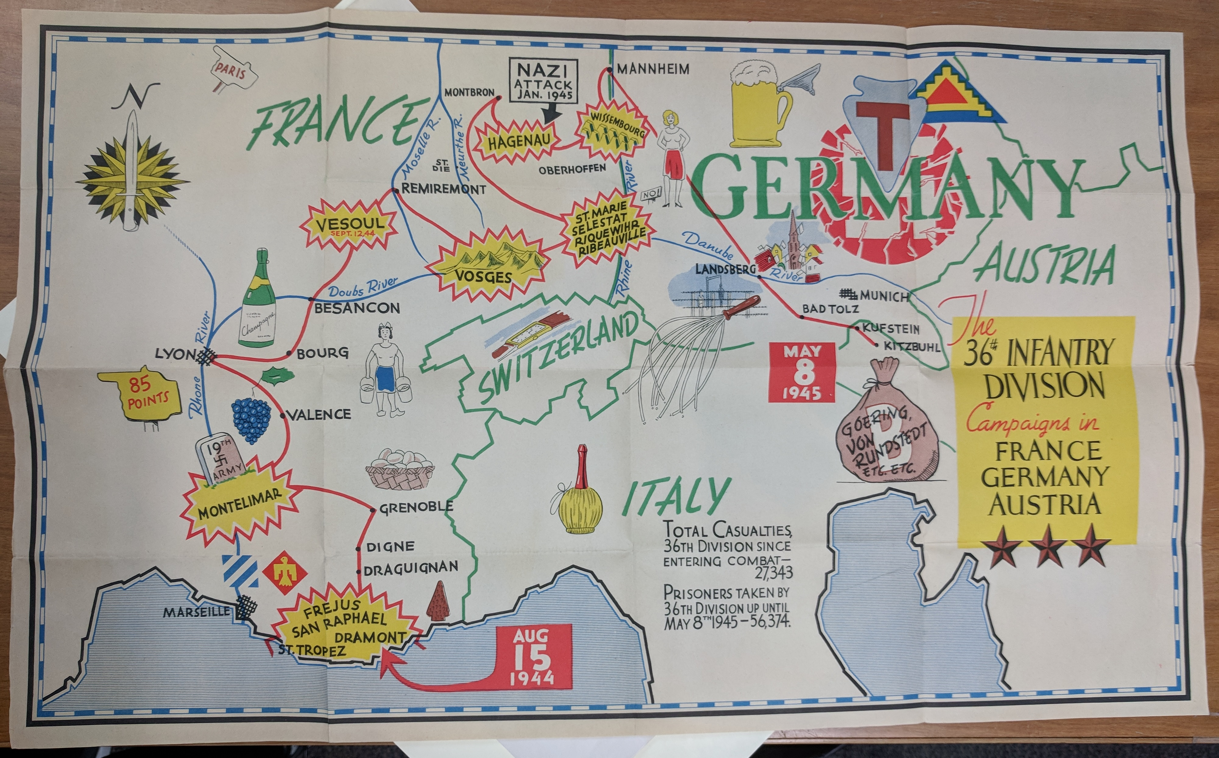 campaigns of the 36th france germany austria