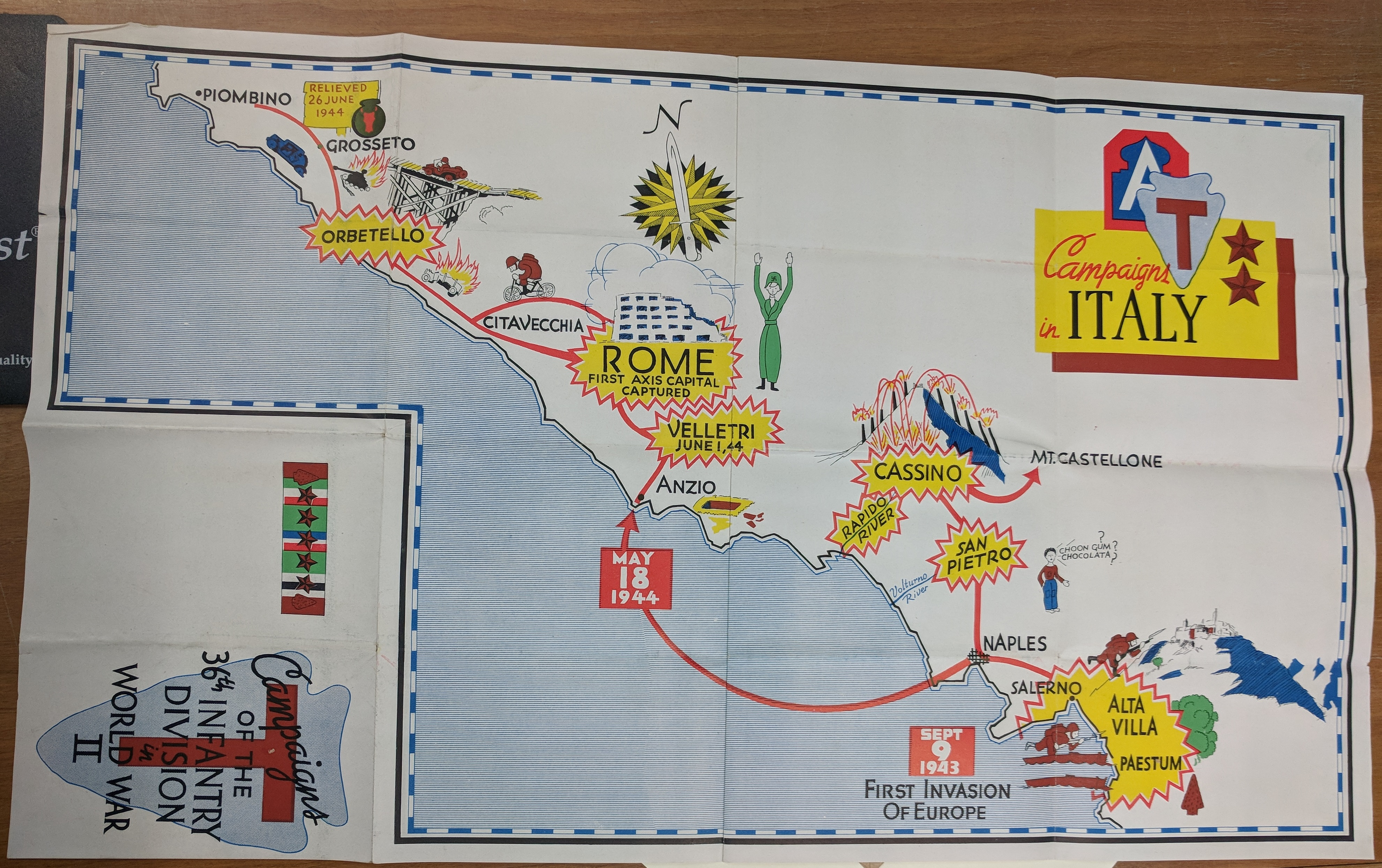 campaigns of the 36th italy